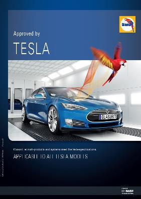 Glasurit Tesla Motors Approves Glasurit S Refinish